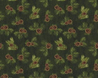 Riley Blake Majestic Outdoors C5576 Green Grass Cotton Fabric BTY
