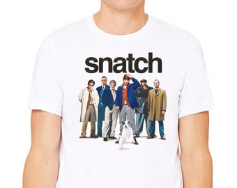 Snatch T-Shirt Mens Brick Tops Pig Farm Movie Unisex Top Jason Statham Brad Pitt