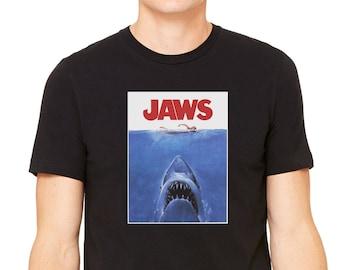 79dfb8d8afd9 JAWS T shirt Men Women Kids Sizes XS - 5XL 100% Cotton Tee Movie Print Retro  Classic Cult Shark Gift