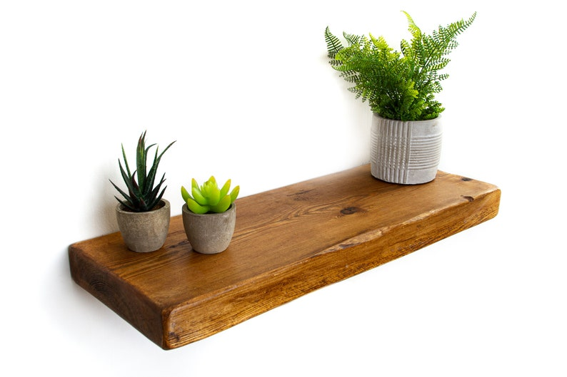 newest collection 3b1ed 1e8f2 Rustic Floating Shelf made from Reclaimed Wood 22cm deep, 5cm thick Wooden  Floating Shelf