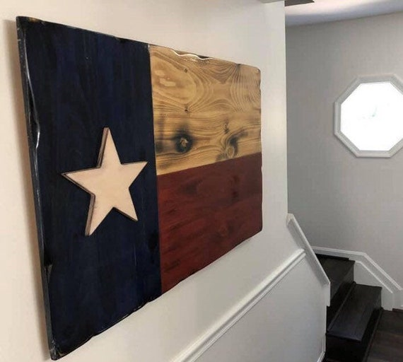 Wooden Texas State Flag
