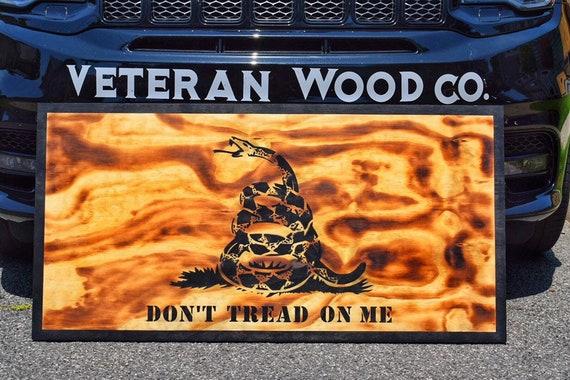 Burnt Gadsden Flag, Dont Tread On Me