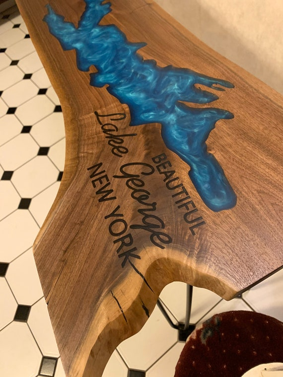 Custom Epoxy poured table.