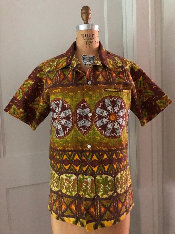 Vintage 1960s Maluna Hawaii Men's Hawaiian Shirt