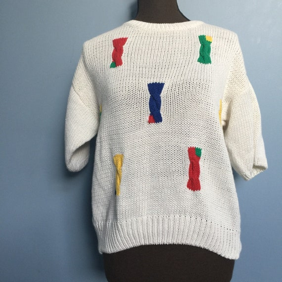Vintage Hand-Knit NWT Short-Sleeve Sweater