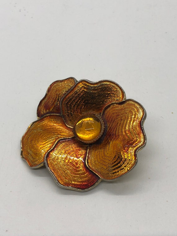 Pretty Vintage Gold tone Floral Brooch Coro AG3