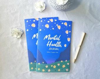 Mental Health Journal, Anxiety Workbook, Self Care Wellness Journal, Self Help Journal, Mood and Sleep Tracker, Activity Book
