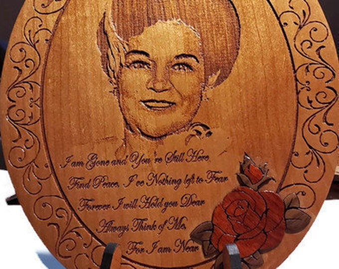 """Engraved Memorial Plaque Sympathy Gift • Personalized Memorial Gift """"In Memory Of"""" • Loss Of Father Mother Husband • Bereavement Gift"""