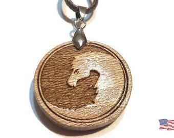 Yin Yang Horse Necklace • Custom Wooden Yin & Yang Horse Charm • Ying Yang Necklace Gift For Horse Lover • Custom Personalized Horse Jewelry