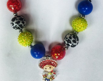 2dacf36f1 Toy Story Jessie Inspired charm Necklace