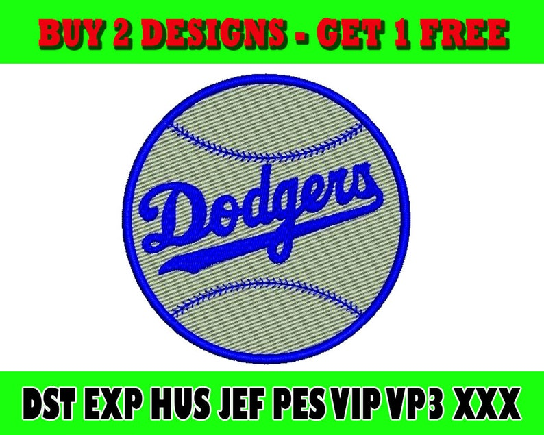 Los-Angeles-Dodgers logo embroidery/Embroidery design/sport  embroidery/Embroidery pattern/Machine Embroidery/Instant Download