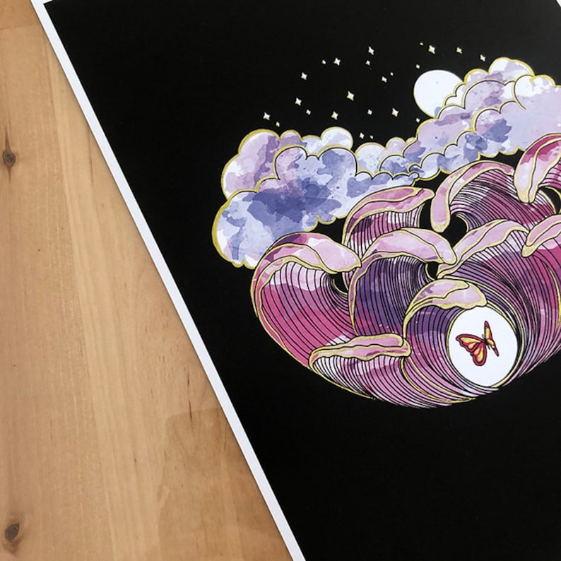 Illustration of the butterfly effect. Decorative sheet a nice image 0