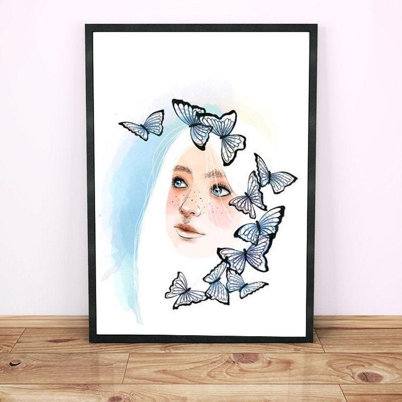 Butterflies. Women's decorative foil surrounded by image 0