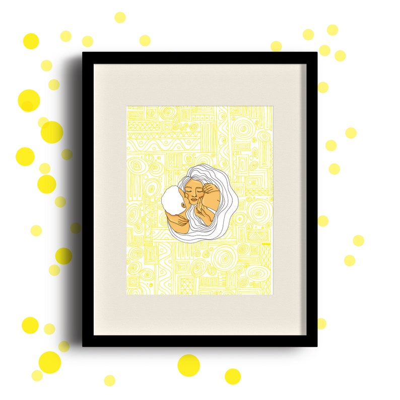 THE BESO  Tribute to KLIMT. Decorative sheet. Ink image 0