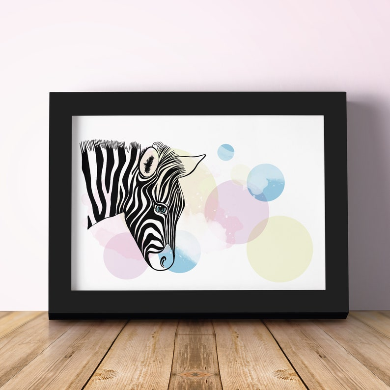 ZEBRA  children's decorative sheet. Nice gift for a image 0