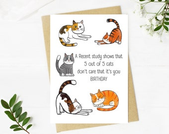 Digital Cat Birthday Card, Pun Birthday Card, Printable Birthday Card, Funny Cat Birthday Card, Downloadable, Card for Cat Lovers