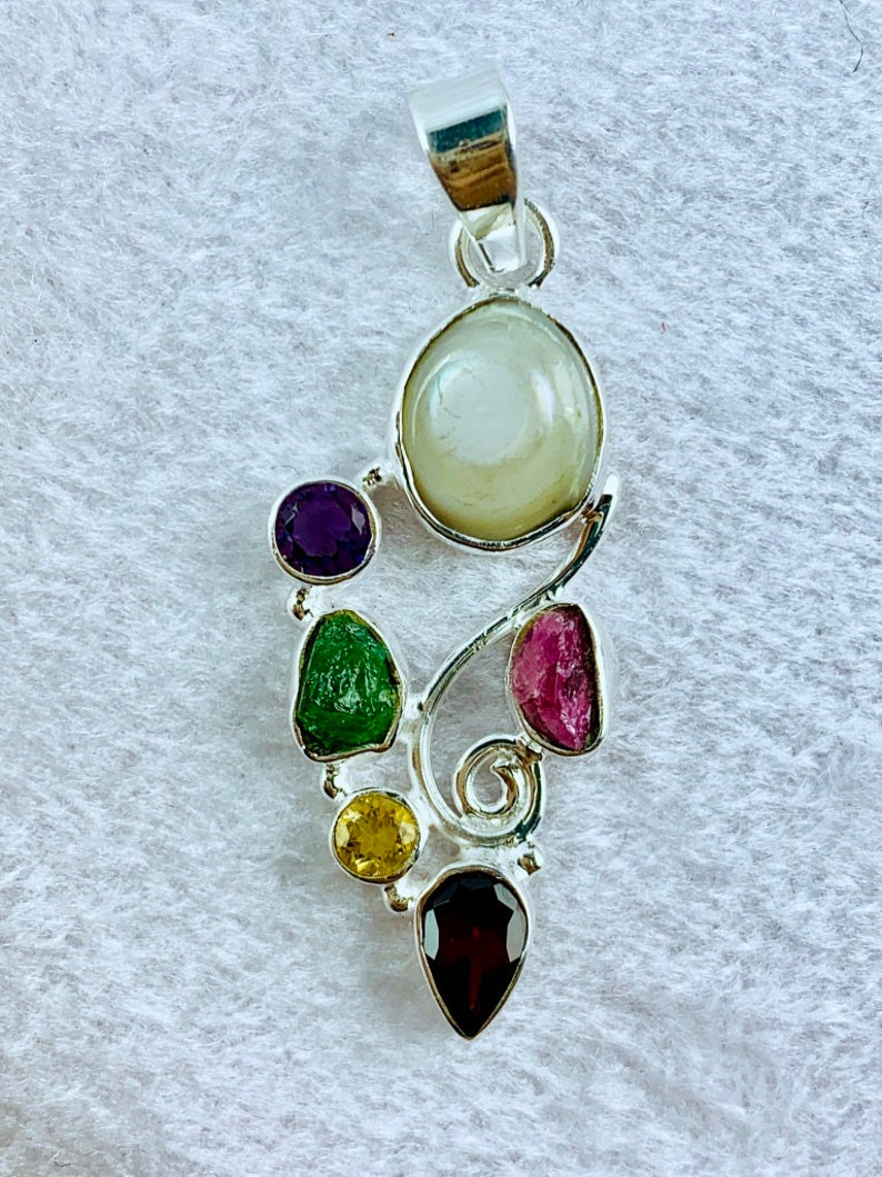 925 sterling silver pendant Silver Pendant Freshwater Pearl Pendant Pearl Pendant silver pendant amazing quality pendant