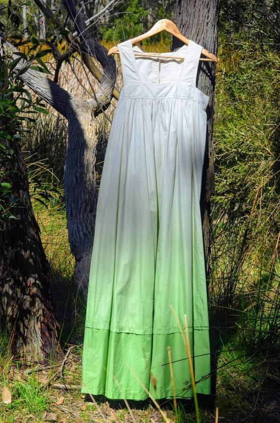 Ombre Green 1960s Maxi Dress