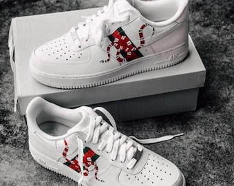 f0538ff9003 Custom Gucci Snake Nike Air Force 1