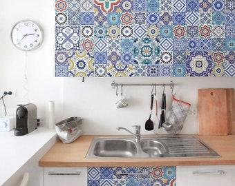 Adhesive Film - Ornate Portuguese tiles   self-adhesive foil design pattern wall art