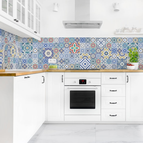 Self Adhesive Splashback Portuguese Tiles Kitchen Decor Etsy