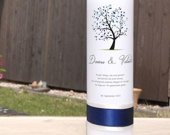 Wedding Candle - Tree Blue