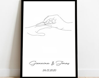Engagement Gift - Hands, Individual, Gift, Best Friends, Groomswoman, Engagement, Couples, Newlyweds