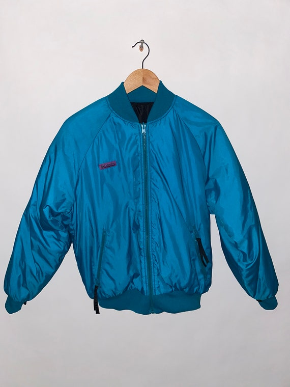 Neon 90's Columbia Puffy Jacket