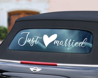 Just Married Car Etsy