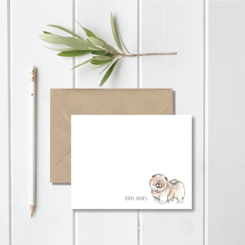 Note Cards Chow Chow Lover Chow Chow Mom Memorial Gift Chow Chow Gift Personalized Chow Chow Stationery Stationary Set
