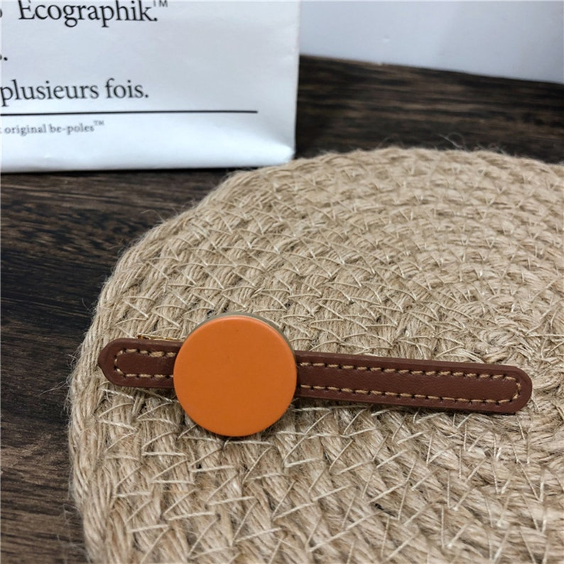 Frosted Vintage Hair Clip Duckbill Clips Fashion Hair Clip Jorker Pin Geometric Hair Clips Hair Accessories. 2PCS Pu Leather Hair Clip