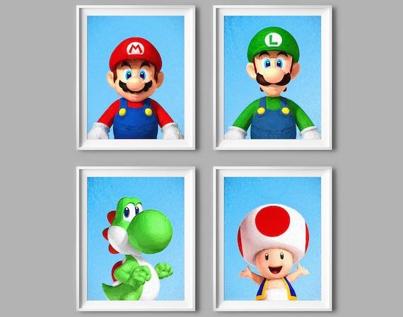 Super Mario Decor Nintendo Print Mario Art Luigi Yoshi Toad Etsy