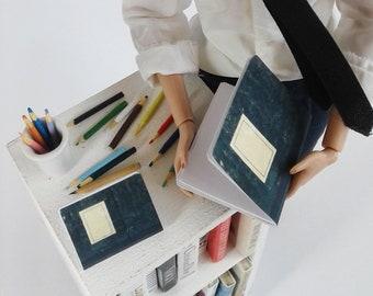 Miniatures cahiers et crayons pour poupée 1/6, bjd 1/3