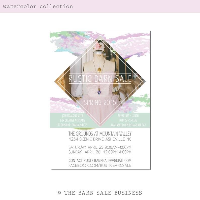 Watercolor Event Invitation Design. Boho Watercolor Market image 0