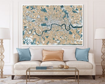 Subway Map Wall Art Wall Art Stickers Wall Decal Huge Underground Tube Map.London Canvas Etsy