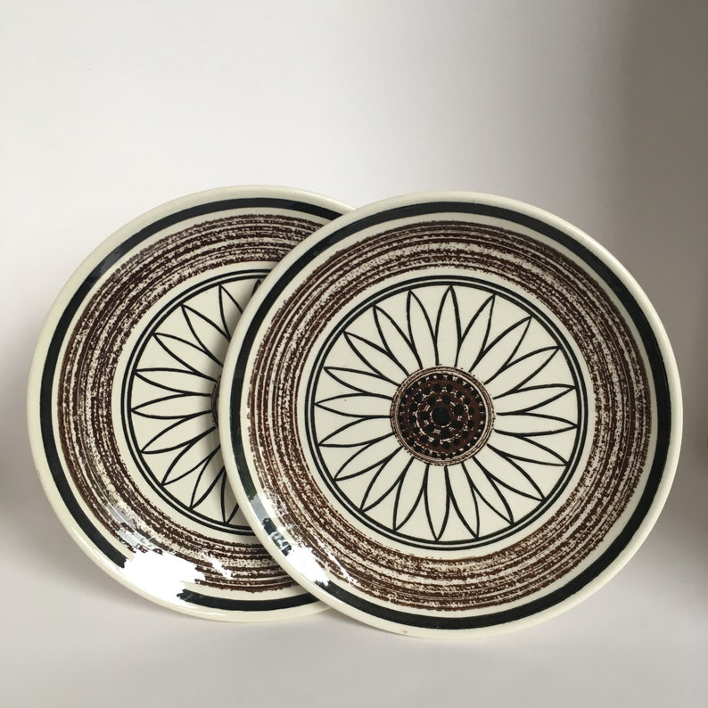 Two Cavalier Ironstone 10 inch bread plates Casa Del Sol from Royal China  USA