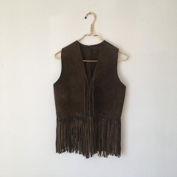 Vintage 1980's Leather Vest