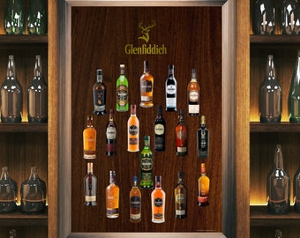 Personalised GLENFIDDICH HAPPY BIRTHDAY Engraved Whisky//Tumbler Gift Glass 76