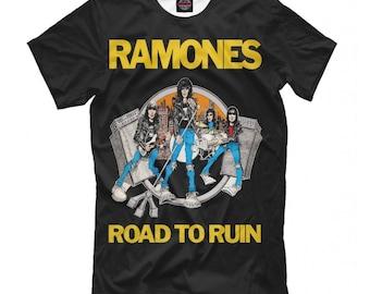 e10abd628c1835 Ramones Road to Ruin T-Shirt, Punk Rock Shirt, Men's Women's Sizes