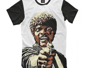 3766de5463 Pâte fiction Jules Winnfield T-shirt, Samuel L. Jackson chemise, tailles de  femmes hommes