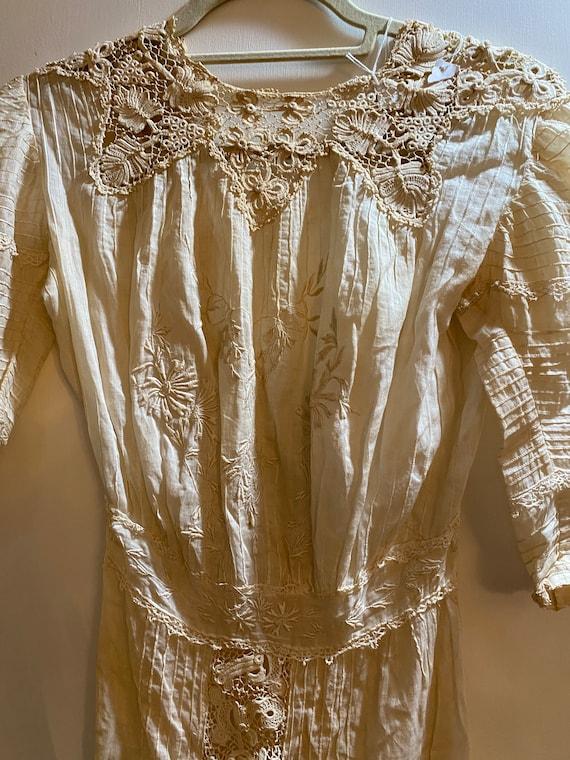Victorian Day Dress with Irish Crochet Lace