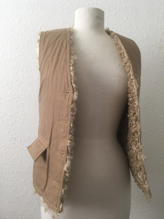 Funky, 1960's Twill Vest (Reversible)