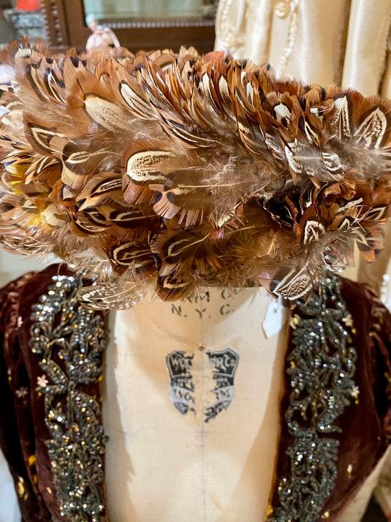 Vintage Feather Hat. Wonderful!