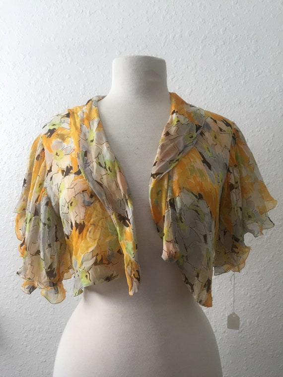 Silk Georgette Over-wrap 1920s to 30s