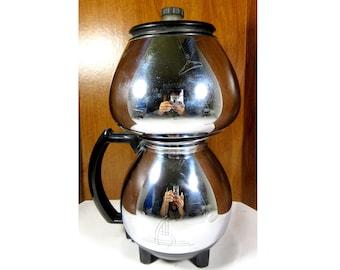 Vintage 1940s SUNBEAM Coffeemaster C20-B Vacuum Coffee Maker - Double Bubble Chrome Percolator - Excellent Working Condition