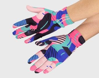 Flamingo Fashion Gloves, Washable Women's Gloves, Girls' Thin Gloves, Outdoor Gloves, Indoor Gloves, Shopping Gloves, Handmade Gloves