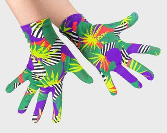 Jungle Fashion Gloves, Washable Women's Gloves, Girls' Thin Gloves, Outdoor Gloves, Indoor Gloves, Shopping Gloves, Handmade Gloves