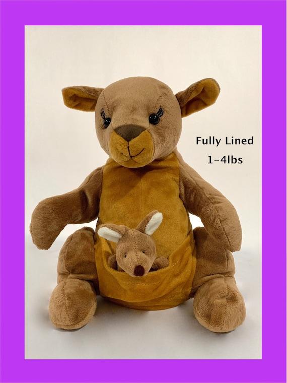 14 Weighted Stuffed Animal Kangaroo Sensory Animal Stuffed Plush Weighted Plush Lap Pad Weighted Blanket