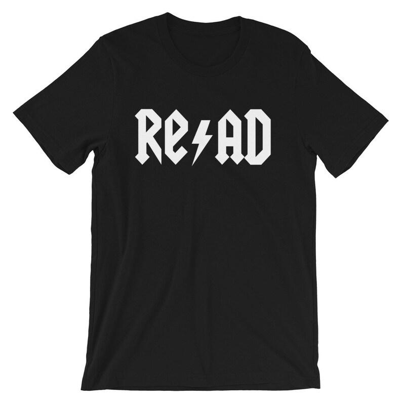 Rock Roll and Read Teacher Tee image 0