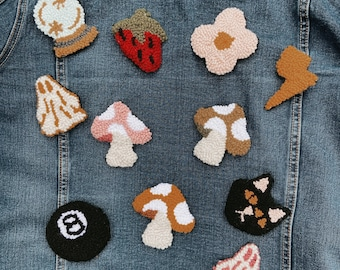 Wearable Rugs Hand punched Pins - Patches - Assorted Styles